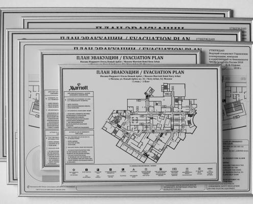 планы эвакуации в раме ГОСТ